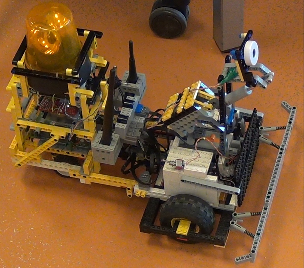 Lego Construction Robot a Lego Robot That Uses a